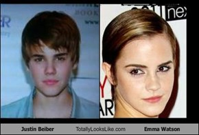 Justin Beiber Totally Looks Like Emma Watson