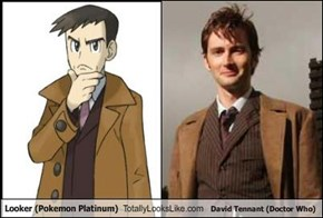Looker (Pokemon Platinum) Totally Looks Like David Tennant (Doctor Who)