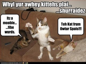 Whyl yur awhey kittehs plai...