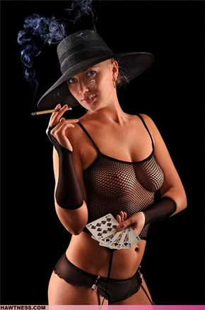 Never gamble with her !