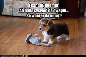 Fear not, hoomin' Ah habs swayed da dwagin... So wherez da numz?