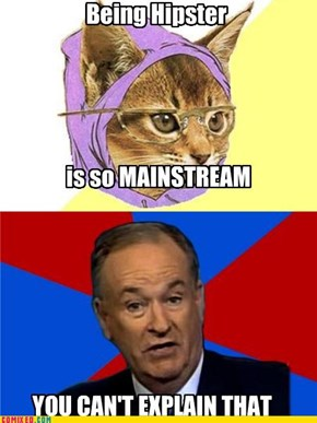 Hipster Kitty meets Advice O'Reilly