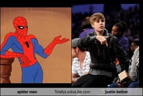 spider man Totally Looks Like justin beiber