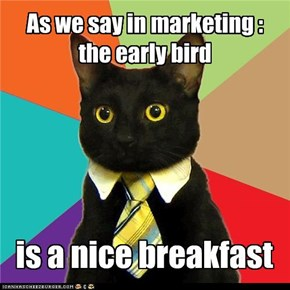 Business Cat : Early bird