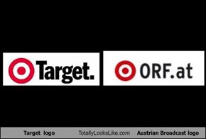 Target  logo Totally Looks Like Austrian Broadcast logo