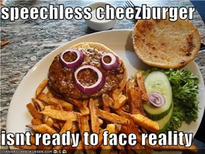 speechless cheezburger  isnt ready to face reality