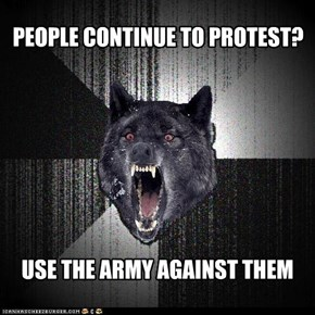 PEOPLE CONTINUE TO PROTEST?