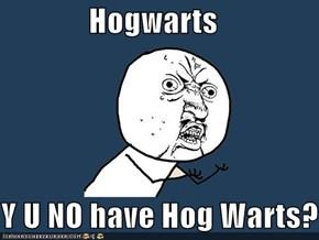 Hogwarts  Y U NO have Hog Warts?
