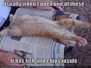 Usually when I open one of these  It has fish and chips inside