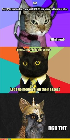 Business Cat feat. Customer Service Kitteh & Genghis Khat