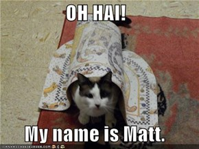 OH HAI!  My name is Matt.