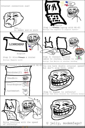 Troll Science: Internet Speed!
