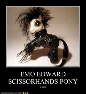 EMO EDWARD SCISSORHANDS PONY