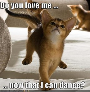 Do you love me ...  ... now that I can dance?