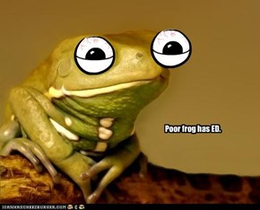 Poor frog has ED.