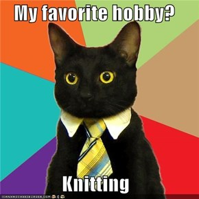 My favorite hobby?  Knitting