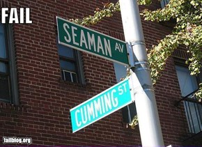 Things That Are Doing It: Street Names FAIL