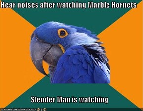 Hear noises after watching Marble Hornets  Slender Man is watching