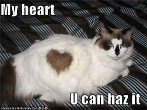 My heart  U can haz it