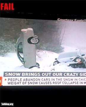 Driving through snow fail