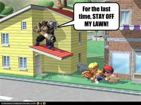 For the last time, STAY OFF MY LAWN!