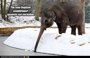 The new Elephant  snowblower! (peanuts not encluded)