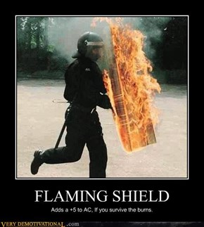 FLAMING SHIELD