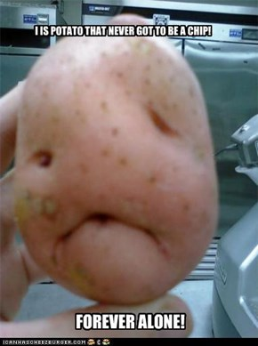 I IS POTATO THAT NEVER GOT TO BE A CHIP!