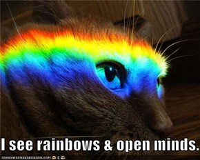 I see rainbows & open minds.