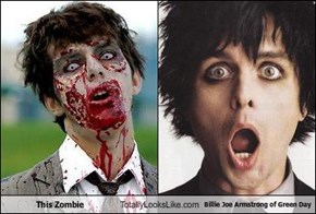 This Zombie Totally Looks Like Billie Joe Armstrong of Green Day