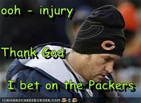 ooh - injury Thank God I bet on the Packers
