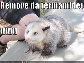 Remove da termamider !!!!!!!