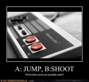 A: Jump, B: Shoot