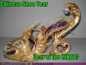 Chinese Shoe Year                              Year of the WHAT?