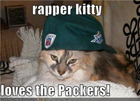 rapper kitty  loves the Packers!