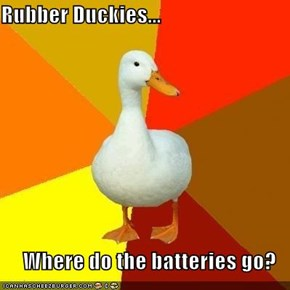 Rubber Duckies...  Where do the batteries go?