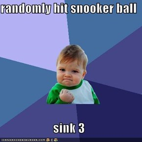 randomly hit snooker ball  sink 3