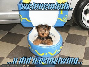 wehmembah...     ...u did'n c anytwing...