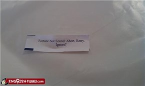Fortune Cookie Friday: Y/N?