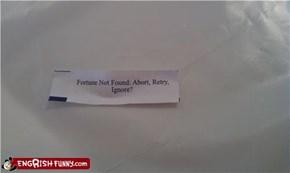 Fortune Cookie Friday: Y/N?