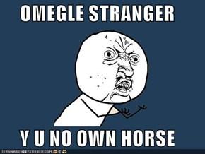 OMEGLE STRANGER  Y U NO OWN HORSE