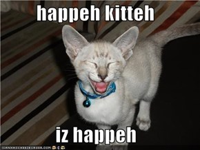 happeh kitteh  iz happeh