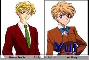Haruka Tenoh Totally Looks Like Yui Hongo