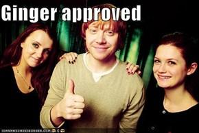 Ginger approved