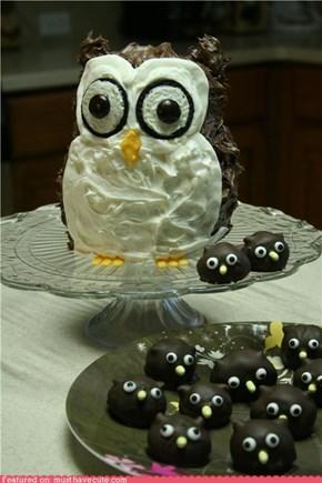Epicute: Owl Cake and Oreo Truffle Owlets