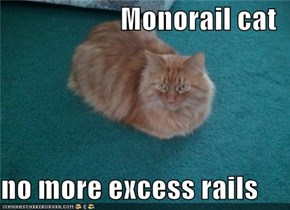 Monorail cat  no more excess rails