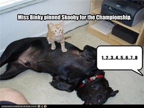 Miss Binky pinned Skooby for the Championship.