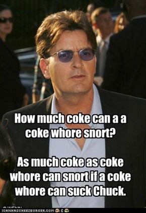 Yes, another Charlie Sheen joke..