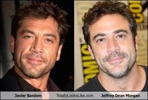Javier Bardem Totally Looks Like Jeffrey Dean Morgan