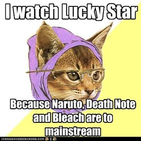 Hipster Kitty's anime choice